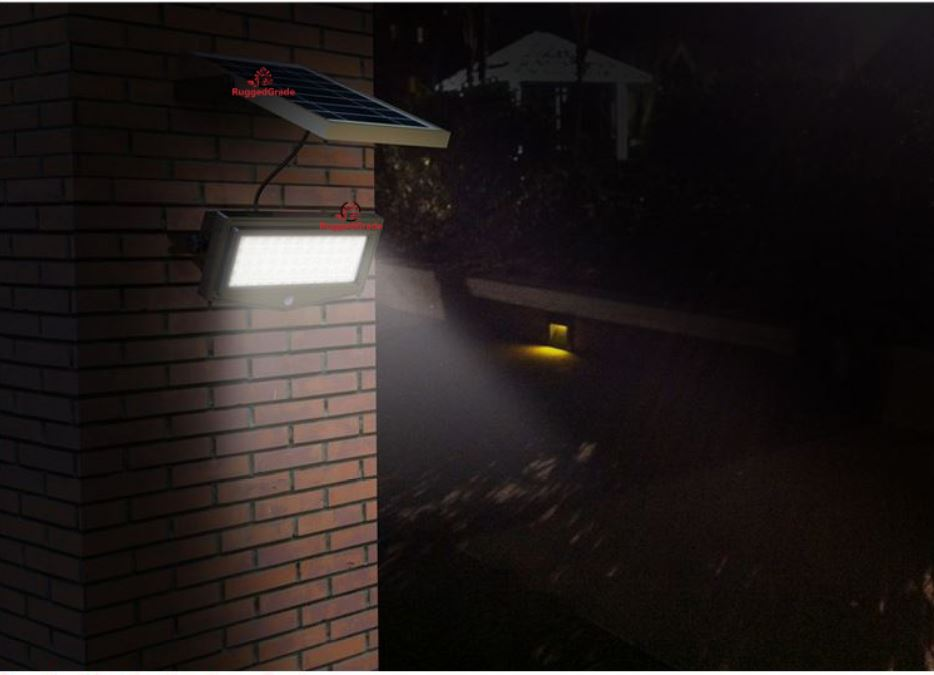 1000 Lumen 10 Watt Solar Flood Light Commercial Grade