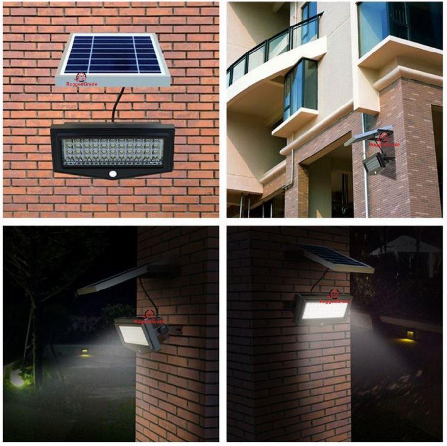 1000 Lumen 10 Watt Solar Flood Light Commercial Grade