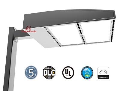 30 600 lumen led parking lot light 200 watt arm mount. Black Bedroom Furniture Sets. Home Design Ideas