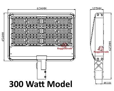 42 000 lumen led parking lot lights 140lm watt 300 watt. Black Bedroom Furniture Sets. Home Design Ideas
