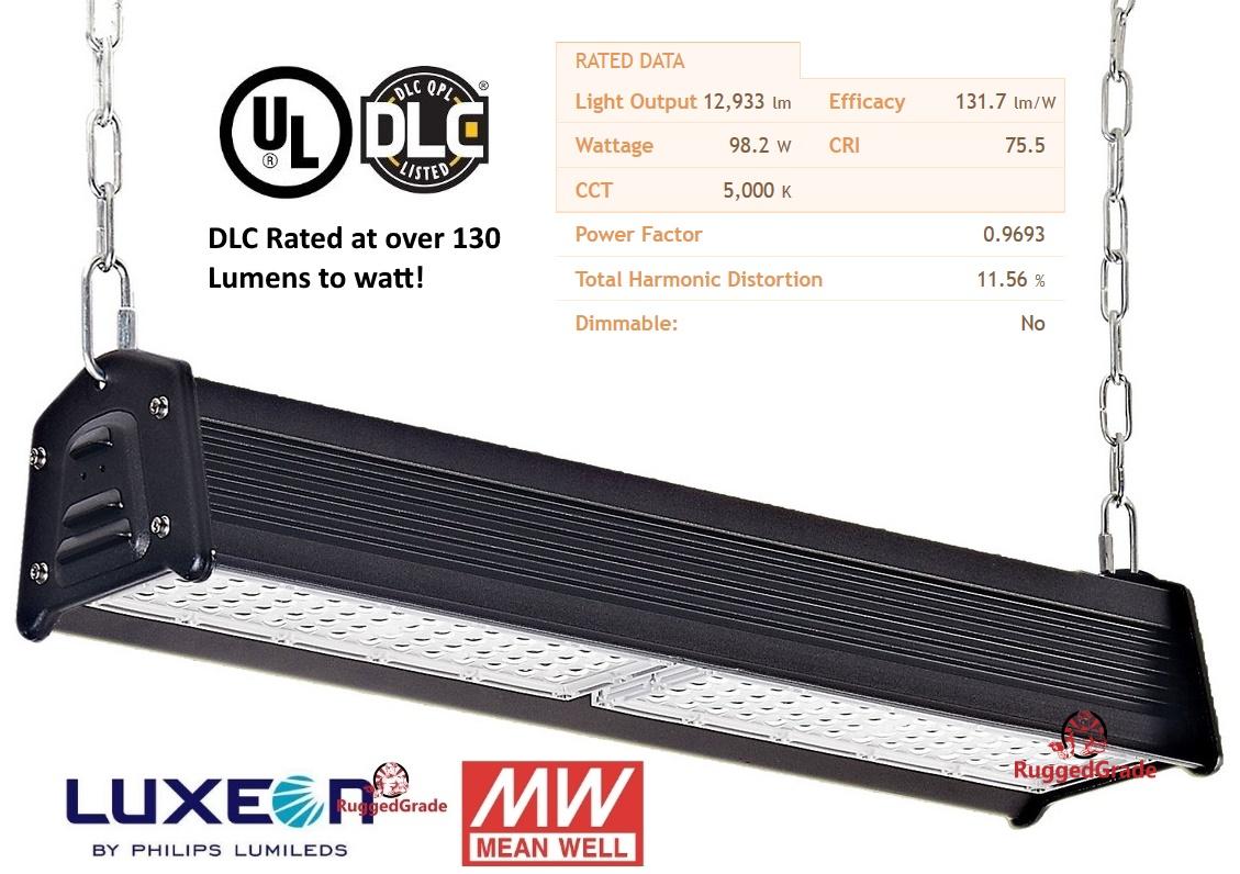 100 Watt Linear High Bay 135 Lumens To Watt 5000k