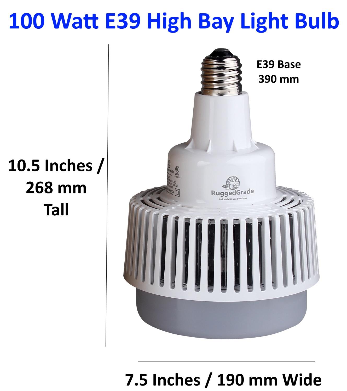 12 000 lumen 100 watt e39 led high bay light bulb 4000k. Black Bedroom Furniture Sets. Home Design Ideas