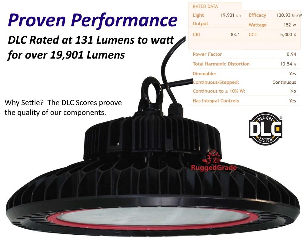 100 Watt Dimmable Led High Bay Ufo Light 13 500 Lumen