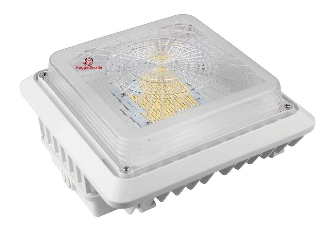 100 watt led ceiling light 13 000 lumens canopy light 5000k. Black Bedroom Furniture Sets. Home Design Ideas