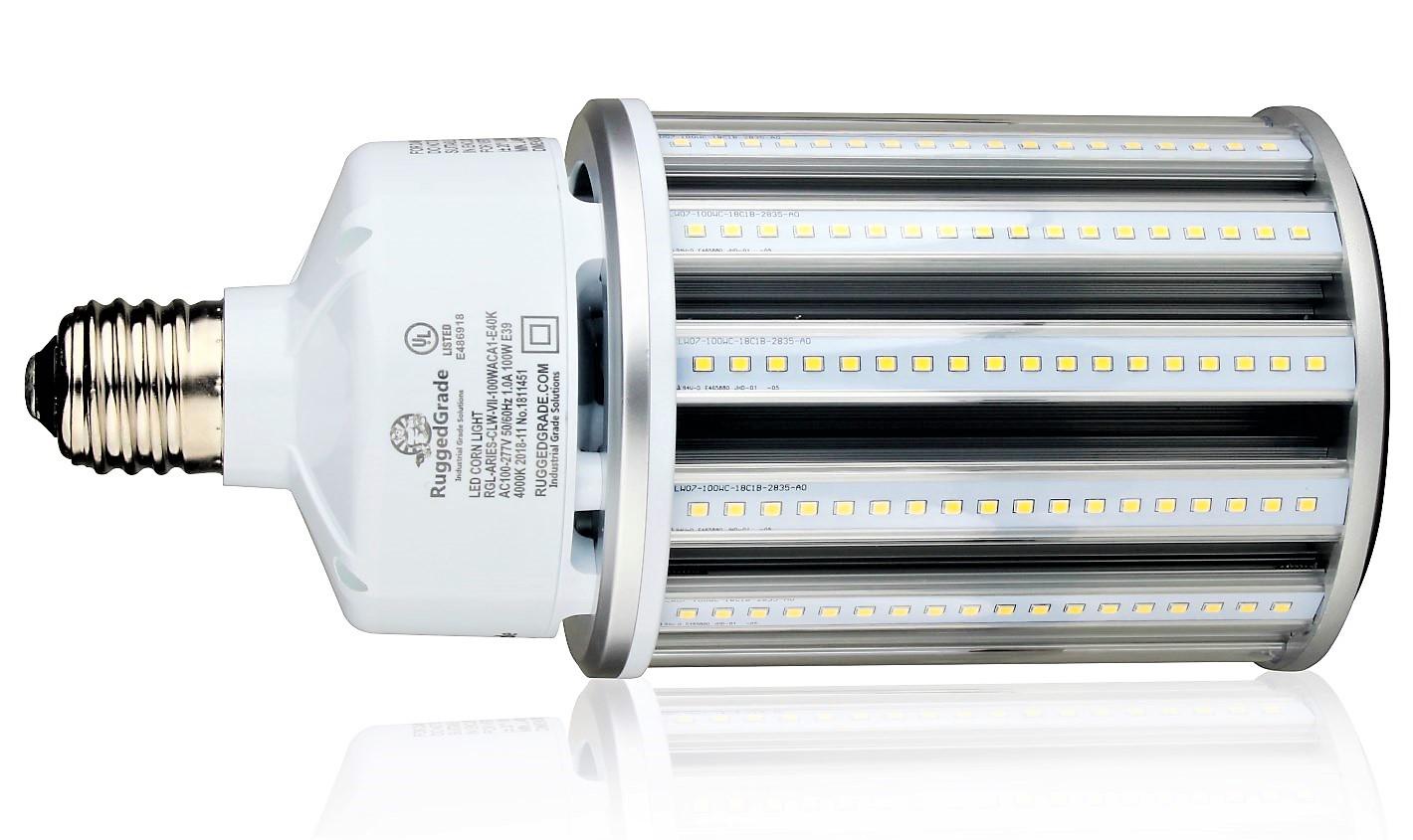 100 watt e39 led corn bulb aries series 13 000 lumens 5000k fanless. Black Bedroom Furniture Sets. Home Design Ideas