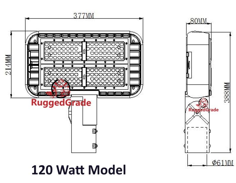 16 300 Lumen Led Parking Lot Light Pro Series 120 Watt