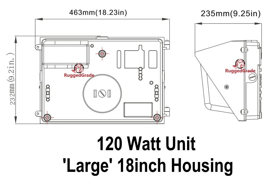 120 watt led wall pack - 15 000 lumens