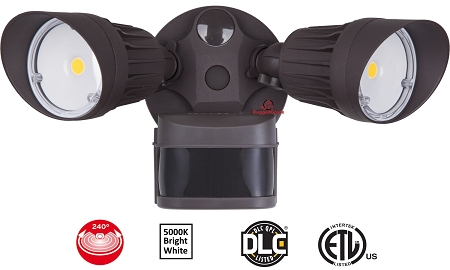 20 watt led motion sensor flood light bronze black 1750 lumen quick view aloadofball Image collections