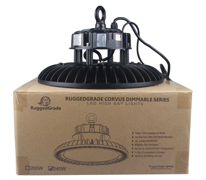 240 Watt Led High Bay Lights: 240 Watt LED High Bay UFO Corvus Series Lights
