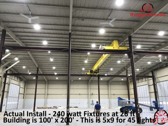 High Bay LED Linear 100//150//200W Warehouse Workshop Commercial Lighting Fixture