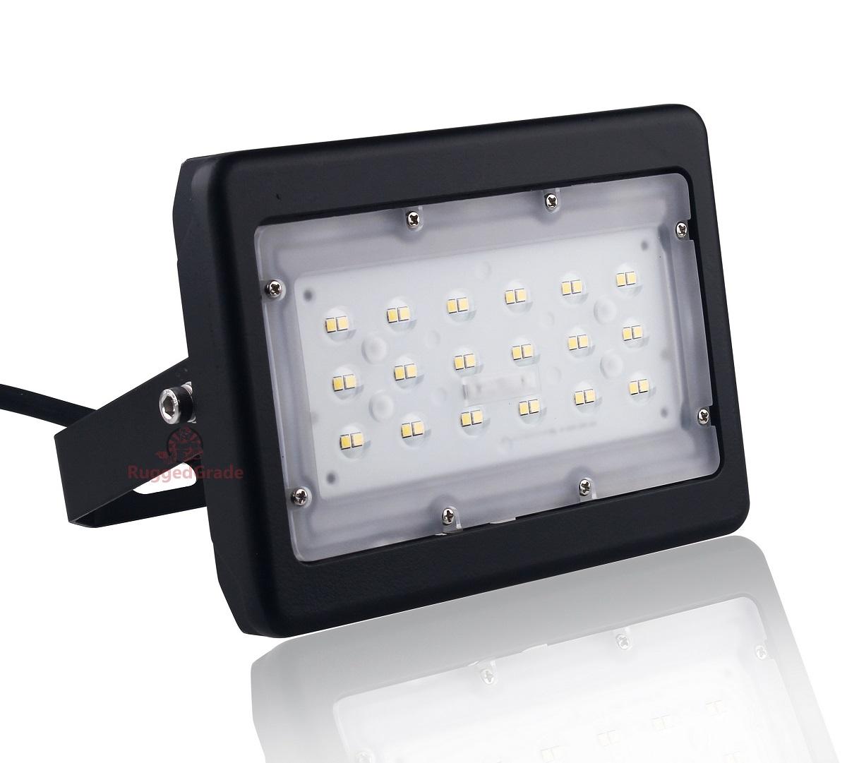 3 600 Lumens 30 Watt Led Flood Light Kivo Series High Efficiency 120 Lumen To 5000k Floodlight Various Mount Choices