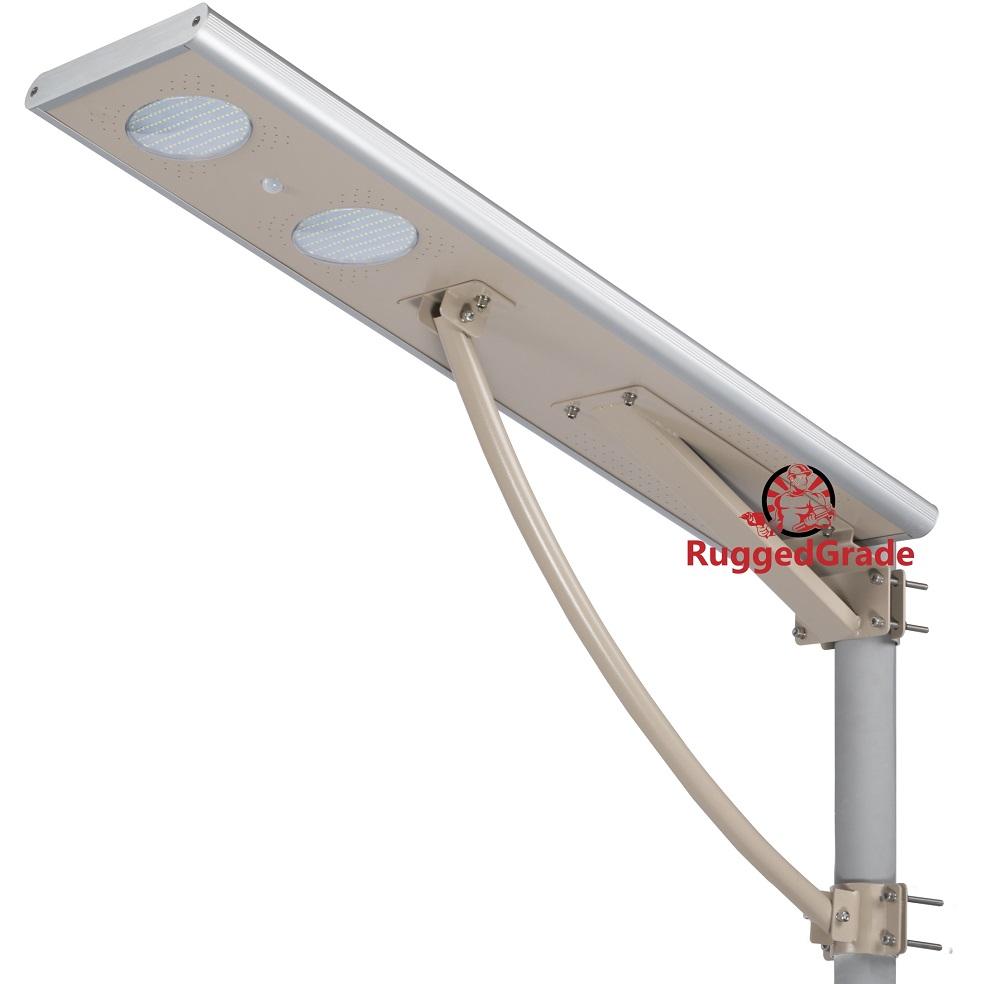 40 Watt Led Solar Street Light Over 4 000 Lumen All In One Lights Open Box