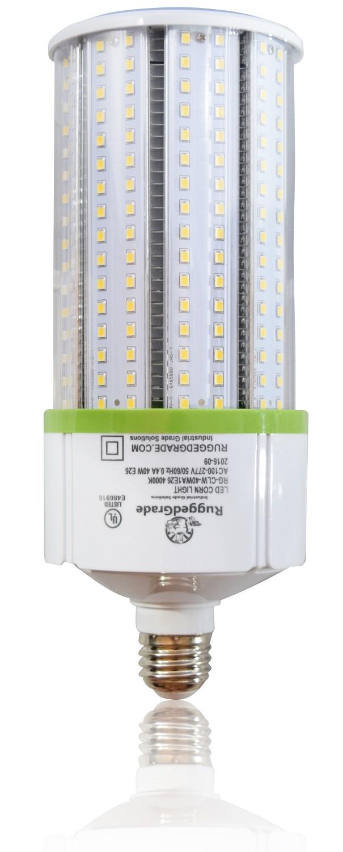 40 watt e39 led corn bulb 4 800 lumens 4000k. Black Bedroom Furniture Sets. Home Design Ideas