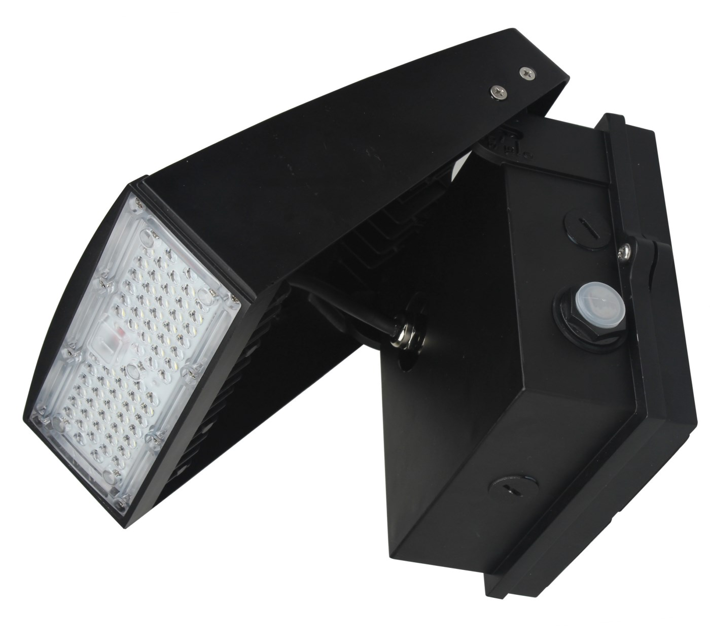 Led Photocell Wall Light : 55 Watt LED Wall Light - Adjustable -PHOTOCELL- 6,000 Lumens - 5000K