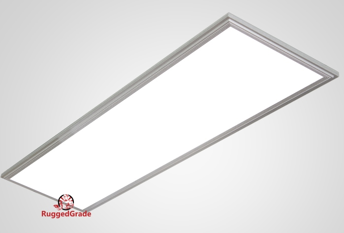 LED 2x4 Surface Mount Troffer Light Fixture 5000K 3 Lamp