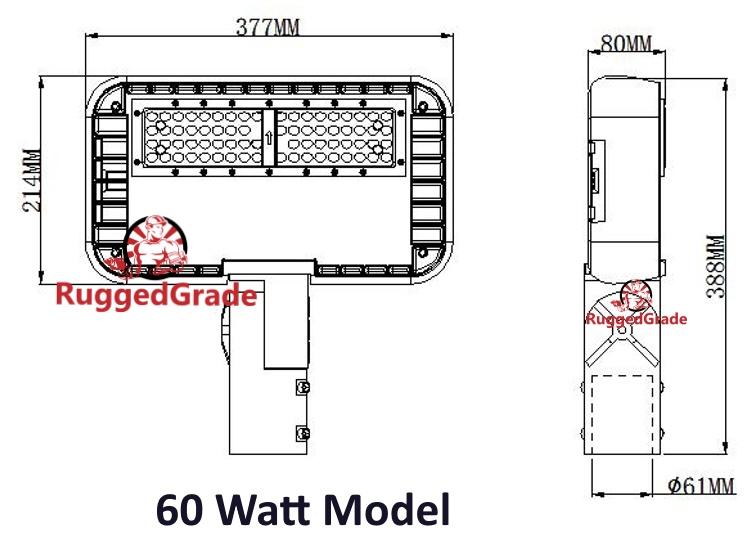 8 100 Lumen Led Area Light Pro Series 60 Watt Led