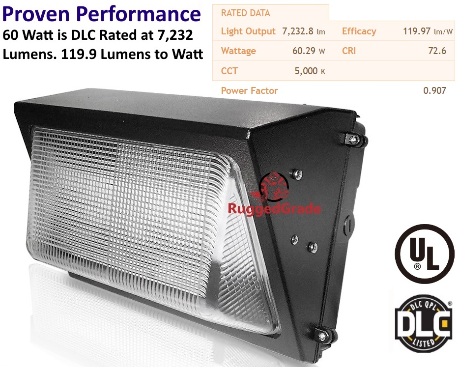 60 watt led wall pack light 7232 lumens dusk to dawn sensor quick view aloadofball Choice Image
