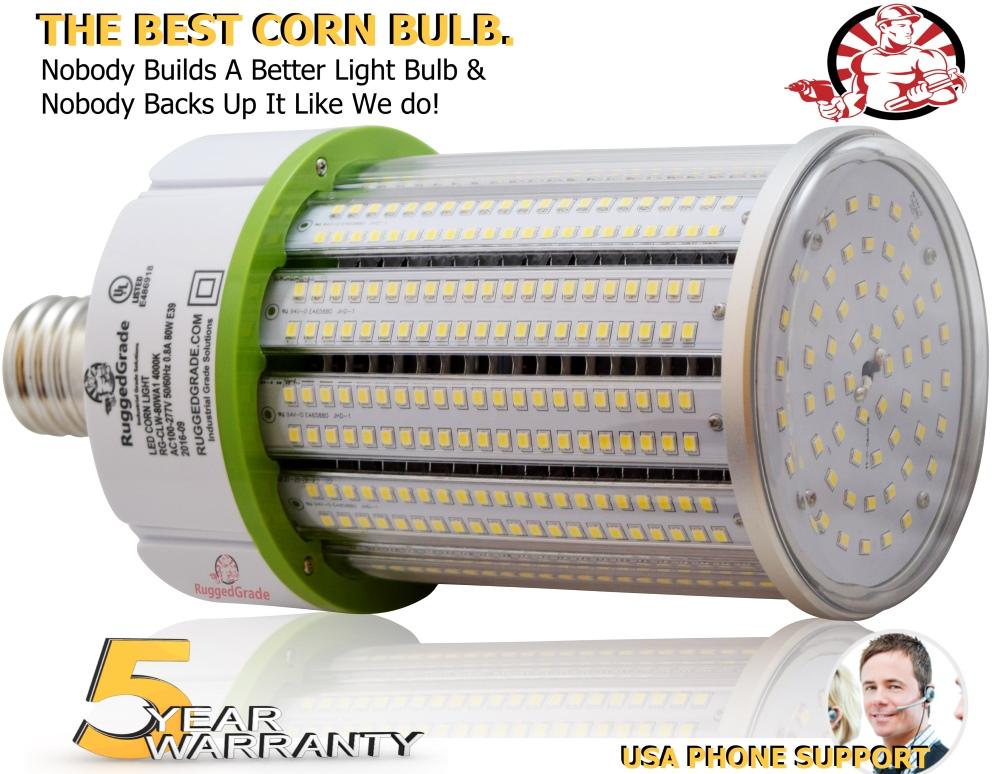 100 watt e39 led corn light bulb 12 000 lumens 5000k. Black Bedroom Furniture Sets. Home Design Ideas