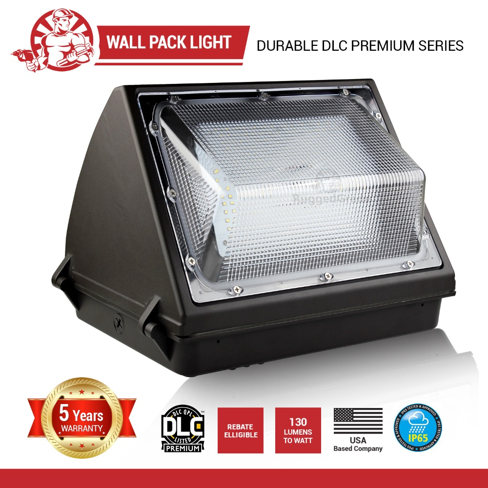 Led Wall Pack With Emergency: 80 Watt LED Wall Pack