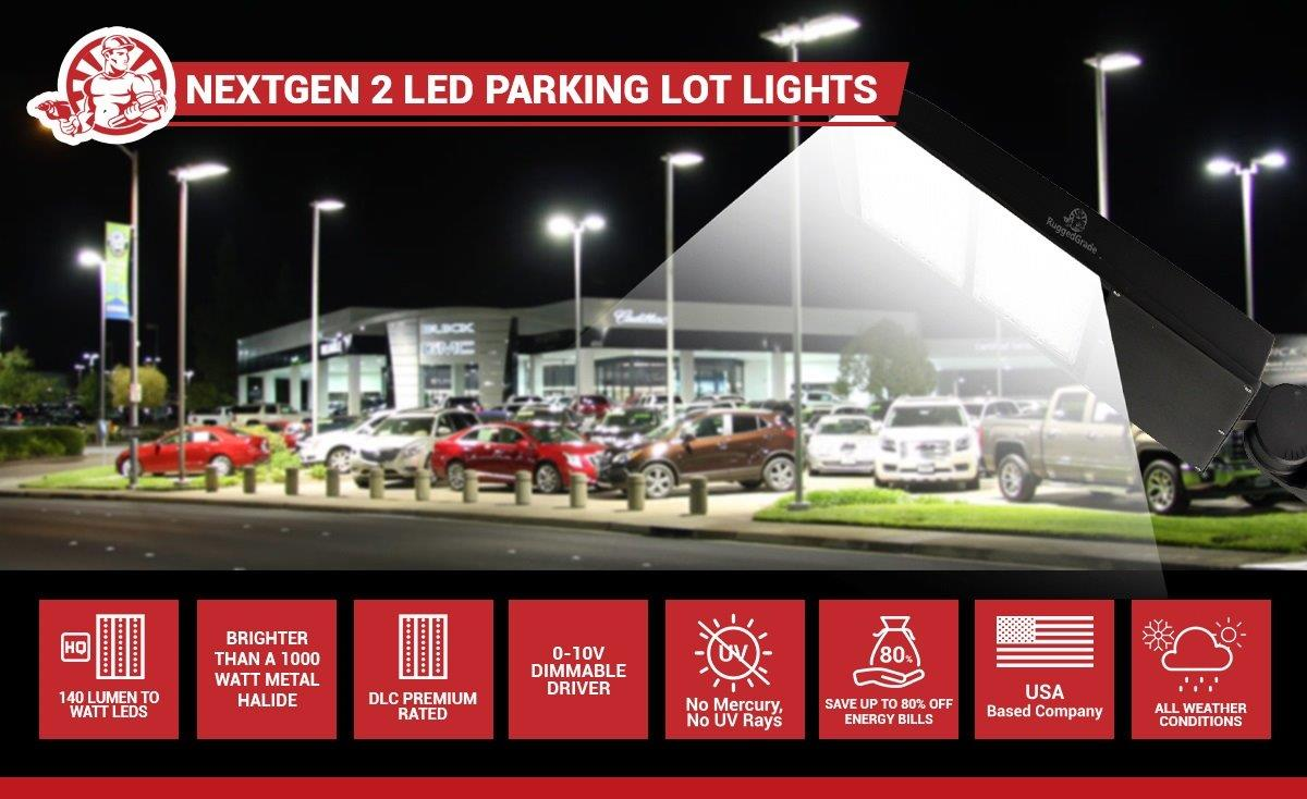 40 000 Lumen 300 Watt Nextgen Ii Led Parking Lot Lights