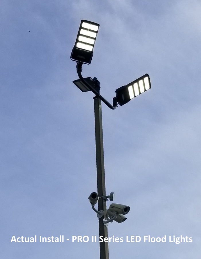 LED Flood Lights Instlalled
