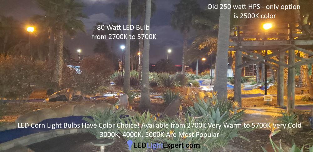 kelvin choices LED Corn Light Bulbs