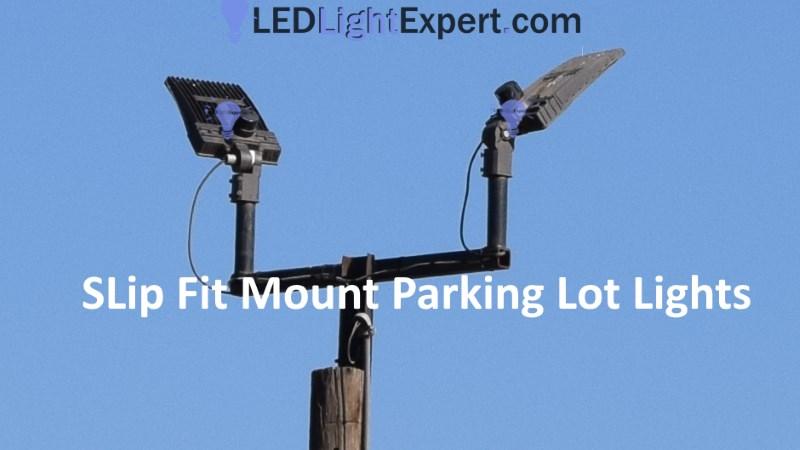 Led Parking Lot Lights With Slip Fitter Mount