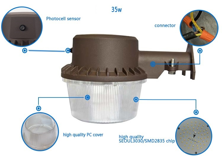 4800 Lumen Outdoor Wall Light Yard Light Barn Light Dusk