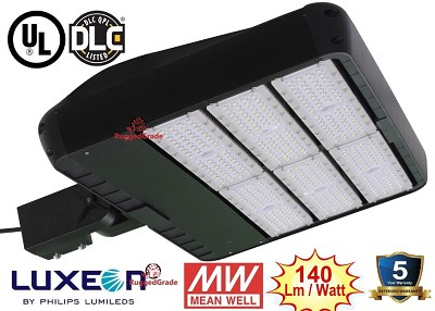36,000 Lumen LED Street Light - Uses only 300 Watts - 5000K Color - With Photocell Optional